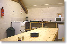 bunkhouse has well equipped kitchen