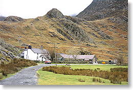 campsite set in snowdonia mountains